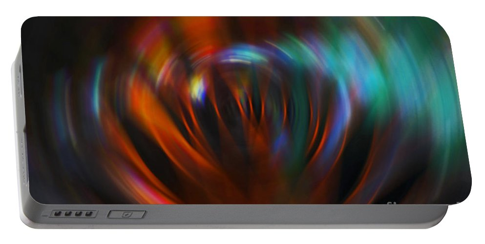 Red Portable Battery Charger featuring the photograph Abstract Red And Green Blur by Marvin Spates