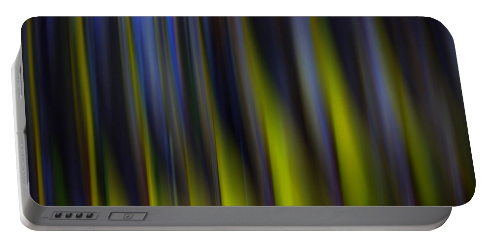 Vertical Portable Battery Charger featuring the photograph Abstract Vertical Red Yellow Blue And Green by Marvin Spates