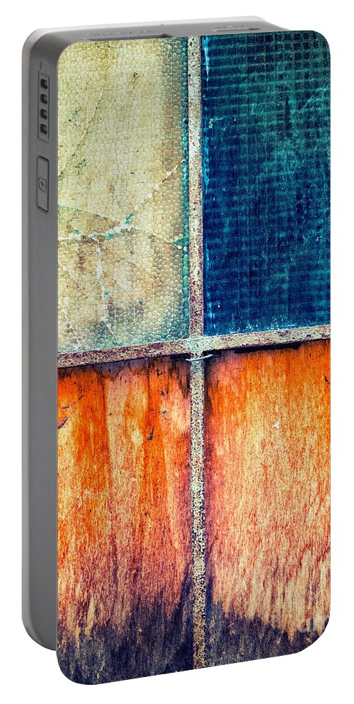 Abstract Portable Battery Charger featuring the photograph Abstract Window by Silvia Ganora