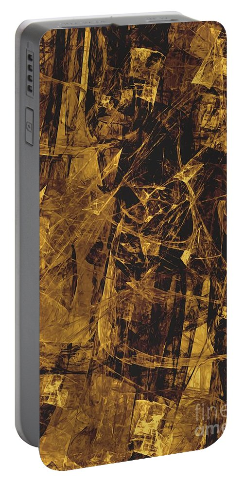 Graphics Portable Battery Charger featuring the digital art Abstraction 0252 Marucii by Marek Lutek