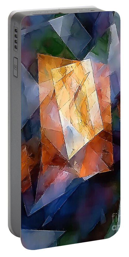 Graphics Portable Battery Charger featuring the digital art Abstraction 0257 Marucii by Marek Lutek