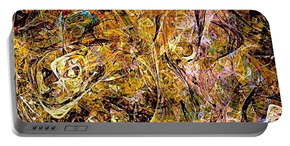 Graphics Portable Battery Charger featuring the digital art Abstraction 0498 Marucii by Marek Lutek