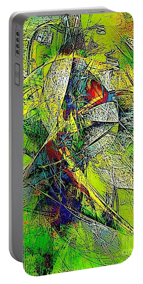 Graphics Portable Battery Charger featuring the digital art Abstraction 0527 Marucii by Marek Lutek