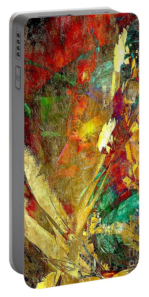 Graphics Portable Battery Charger featuring the digital art Abstraction 0553 Marucii by Marek Lutek