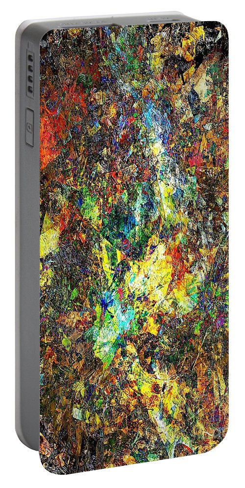Graphics Portable Battery Charger featuring the digital art Abstraction 0557 Marucii by Marek Lutek