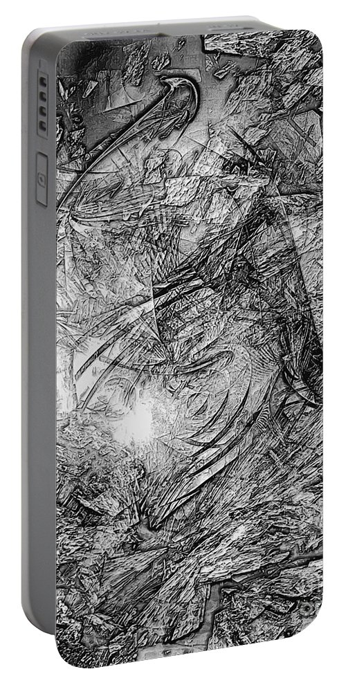 Graphics Portable Battery Charger featuring the digital art Abstraction 0565 - Marucii by Marek Lutek