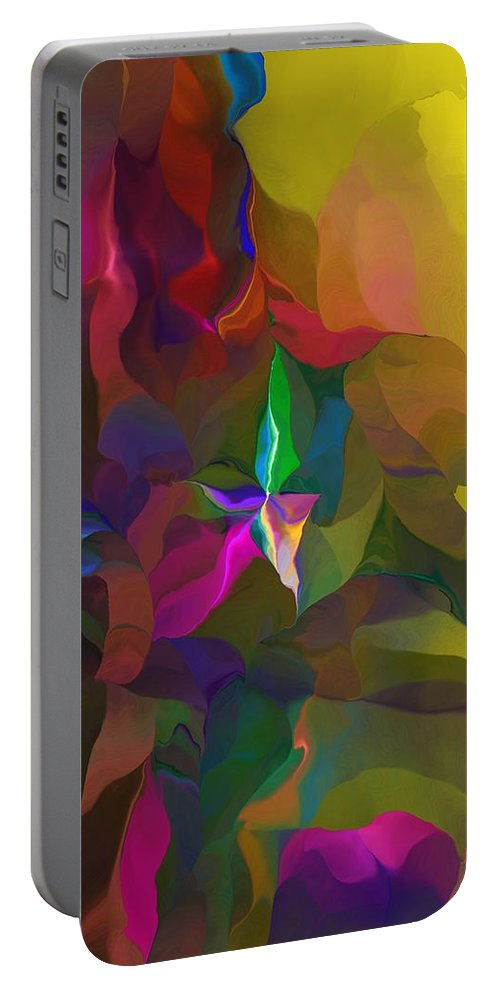 Fine Art Portable Battery Charger featuring the digital art Abstraction 111212 by David Lane