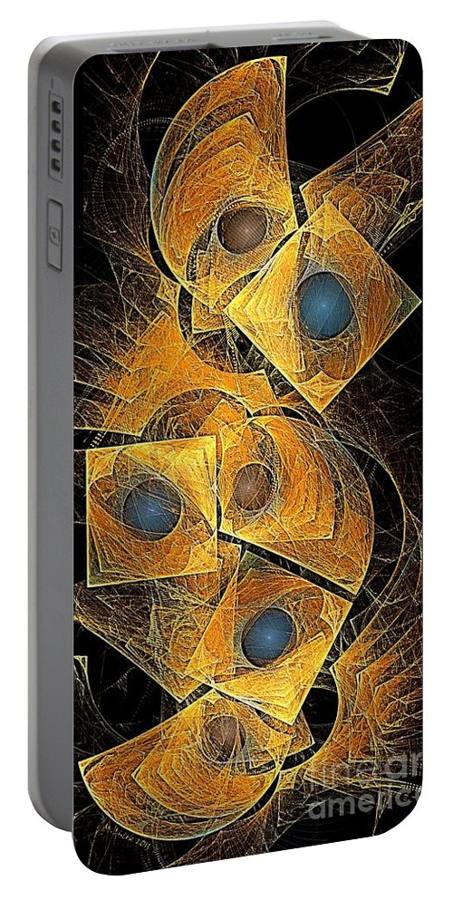 Bubbles Portable Battery Charger featuring the digital art Abstraction 207-03-13 Marucii by Marek Lutek