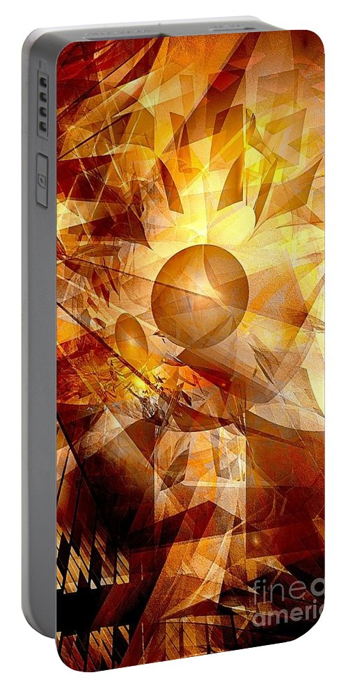 Graphics Portable Battery Charger featuring the digital art Abstraction072-13 Marucii by Marek Lutek