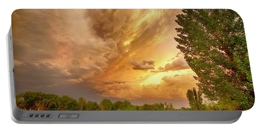 Sunsets Portable Battery Charger featuring the photograph Abyss In The Sky by James BO Insogna