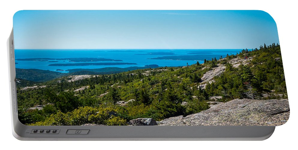 Seascape Portable Battery Charger featuring the photograph Acadia Blue by DAC Photo