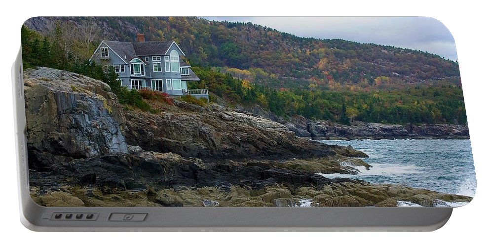 Maine Portable Battery Charger featuring the photograph Acadia Seaside Mansion by Stuart Litoff
