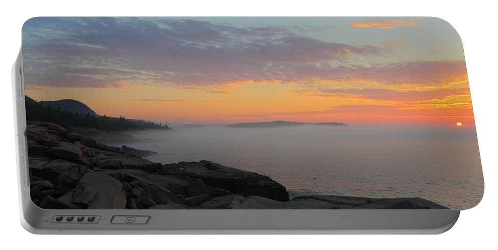 Acadia National Park Portable Battery Charger featuring the photograph Acadia Sunrise 5 by Jeff Heimlich