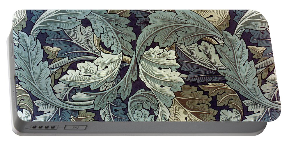 William Portable Battery Charger featuring the tapestry - textile Acanthus Leaf Design by William Morris