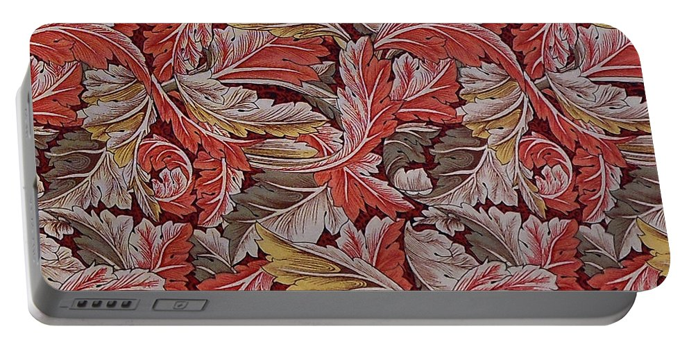 William Portable Battery Charger featuring the digital art Acanthus Leaf by William Morris