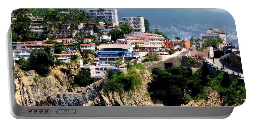 Acapulco Portable Battery Charger featuring the photograph Acapulco by Karen Wiles