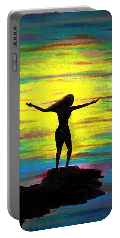 Beautiful Portable Battery Charger featuring the photograph Accomplished by Artist RiA