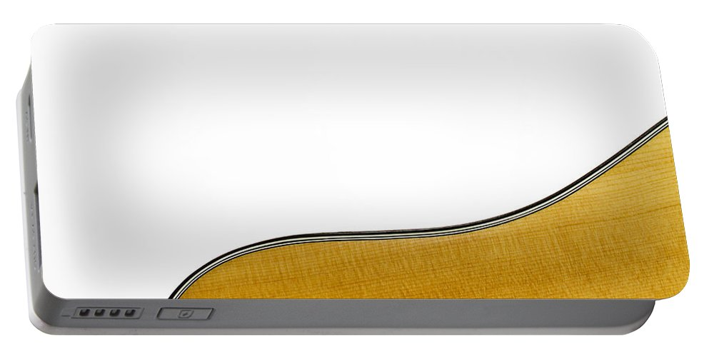 Guitar Portable Battery Charger featuring the photograph Acoustic Curve by Bob Orsillo