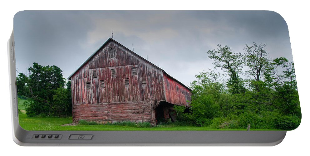 Adams County Portable Battery Charger featuring the photograph Adams County Barn 7d02923c by Guy Whiteley