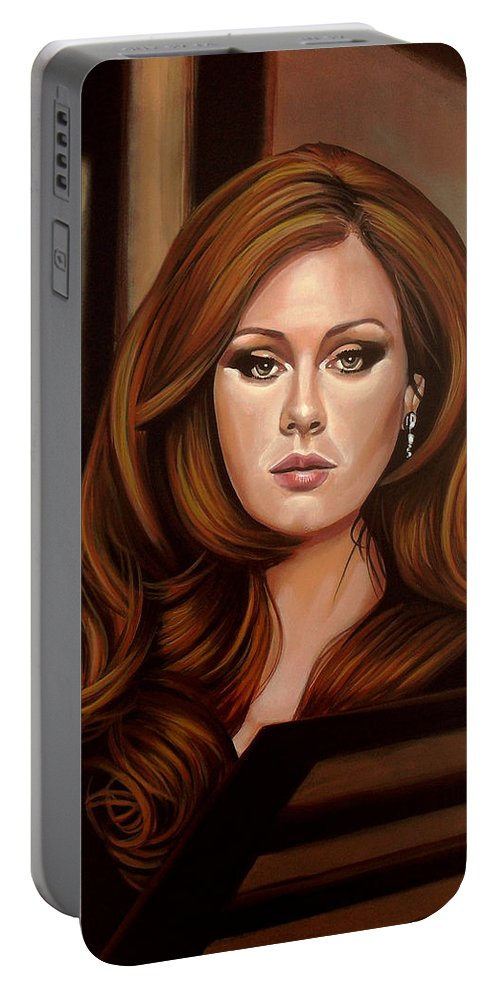 Adele Portable Battery Charger featuring the painting Adele by Paul Meijering