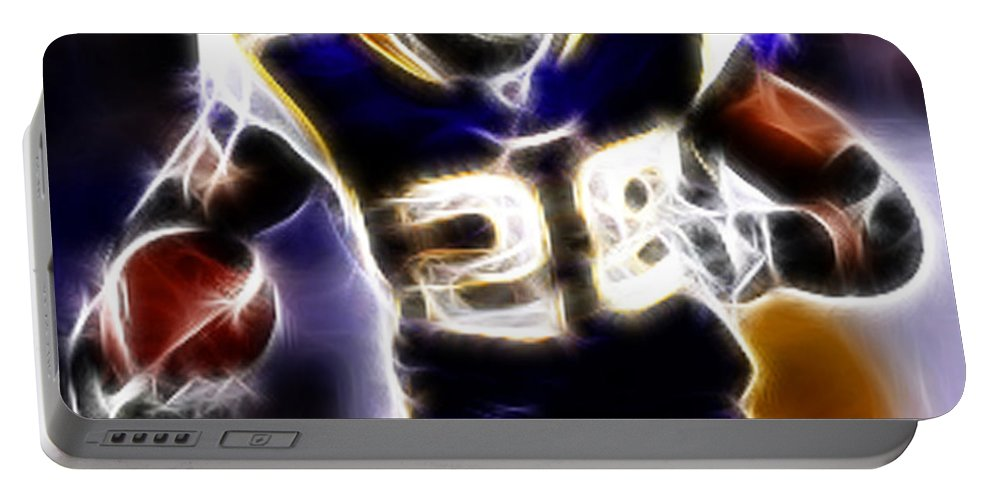 Adrian Peterson Portable Battery Charger featuring the photograph Adrian Peterson 01 - Football - Fantasy by Paul Ward