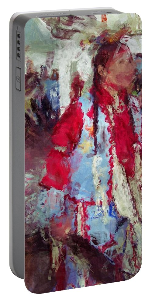 Advsgi Gigv Portable Battery Charger featuring the digital art Advsgi Gigv by Christy Leigh