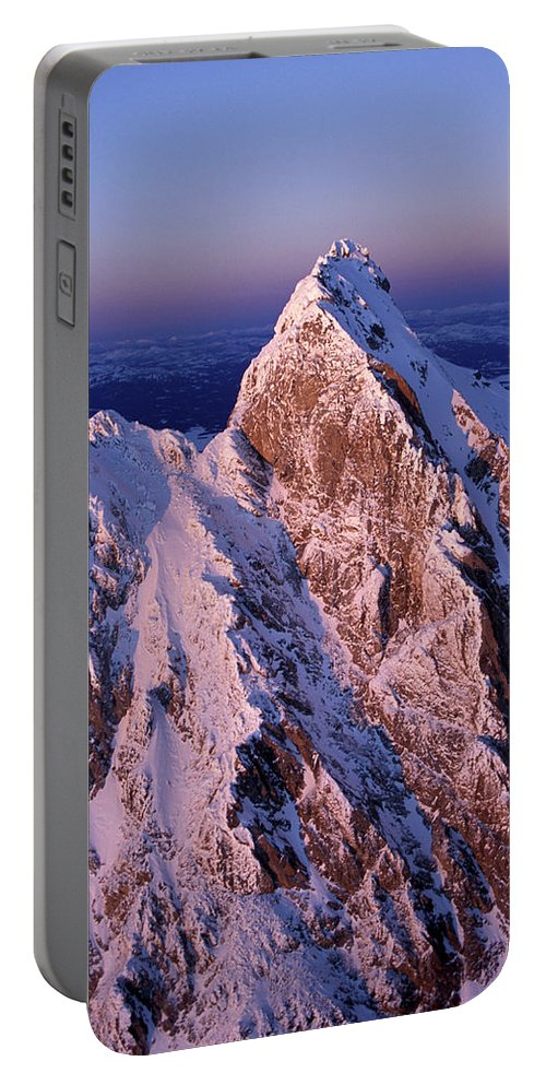 Aerial Portable Battery Charger featuring the photograph Aerial View Of The Grand Teton by David Stubbs
