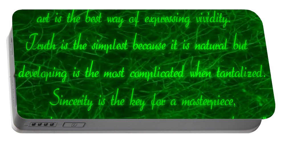 Aesthetic View Portable Battery Charger featuring the digital art Aesthetic Quote 1 by Withintensity Touch