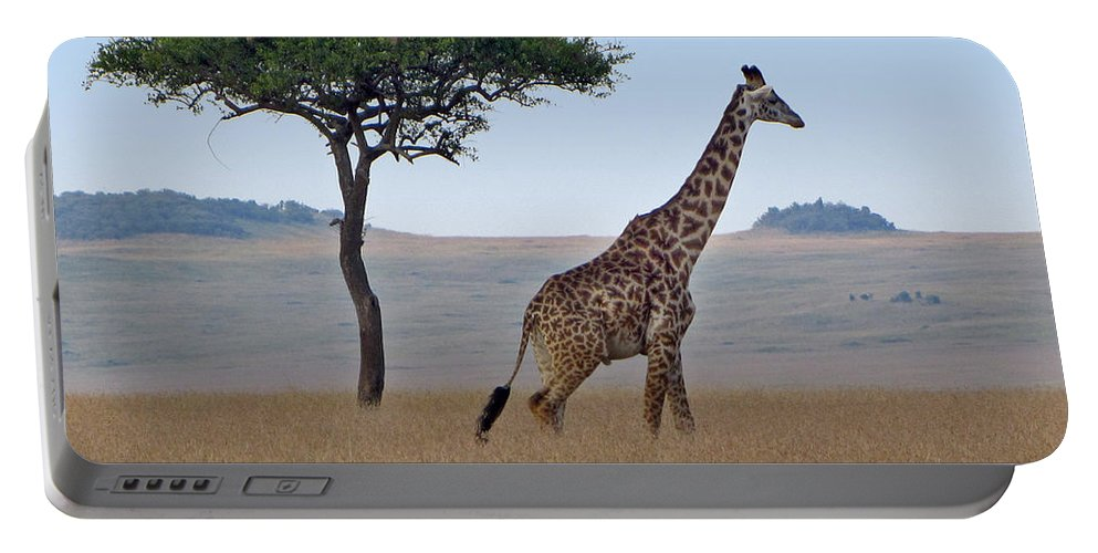 Africa Portable Battery Charger featuring the photograph African Safari Giraffes 2 by Jeff Brunton