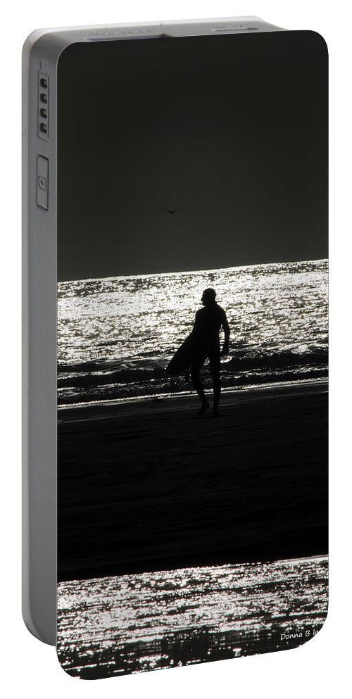 Surfing Portable Battery Charger featuring the photograph After Hours by Donna Blackhall