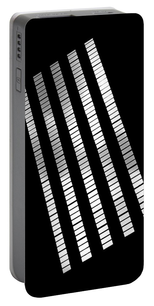 Abstract Portable Battery Charger featuring the photograph After Rodchenko 2 by Rona Black