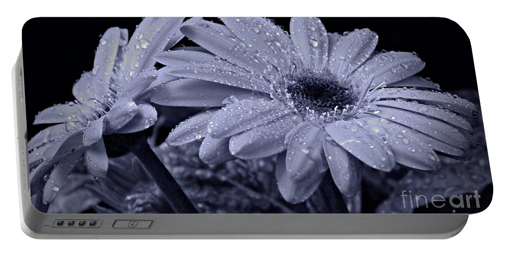 After The Rain Cyan Portable Battery Charger featuring the photograph After The Rain Cyan by Chalet Roome-Rigdon