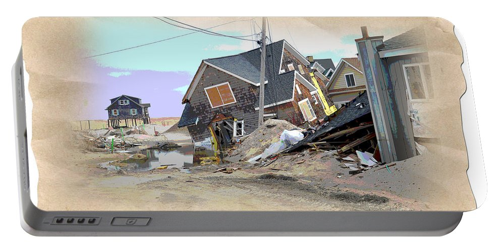 Hurricane Sandy Portable Battery Charger featuring the photograph After The Storm 3 by Om Art Studio Dean Walther