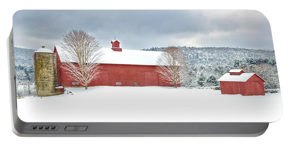 Old Red Barn Portable Battery Charger featuring the photograph After The Storm by Bill Wakeley