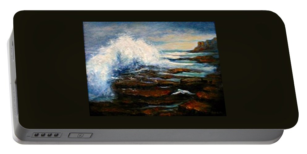 Seascape Portable Battery Charger featuring the painting After The Storm by Gail Kirtz