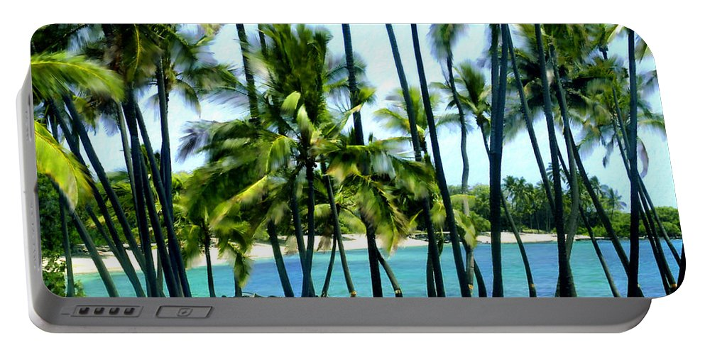 Hawaii Portable Battery Charger featuring the photograph Afternoon At Kakaha Kai by Kurt Van Wagner