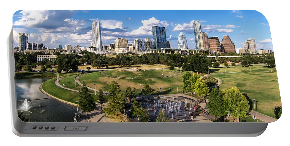 Austin Portable Battery Charger featuring the photograph Afternoon In Austin by Randy Smith