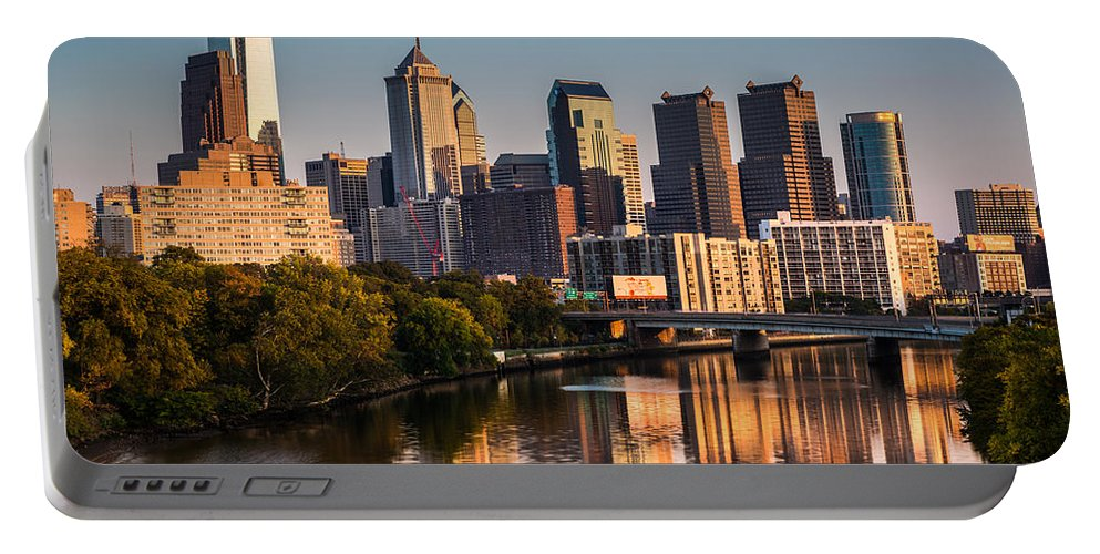 Pa Portable Battery Charger featuring the photograph Afternoon In Philly by Mihai Andritoiu