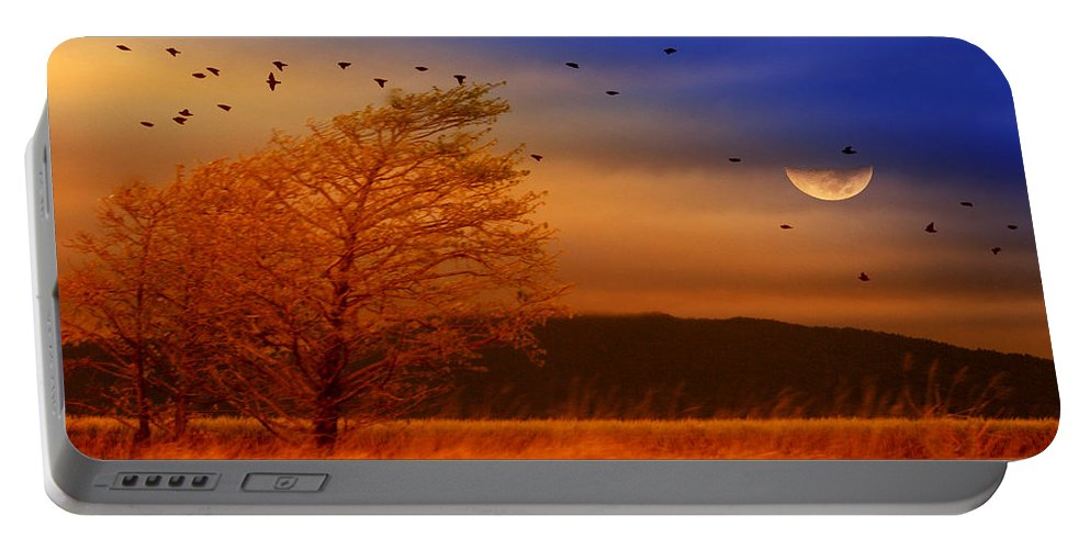 Landscape Portable Battery Charger featuring the photograph Against The Wind by Holly Kempe