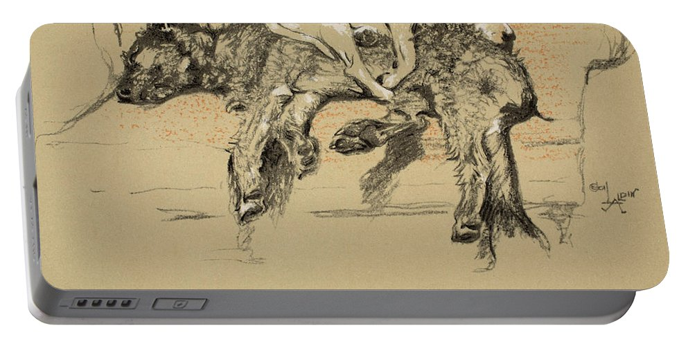 Dogs Portable Battery Charger featuring the painting Agglomeration by Cecil Charles Windsor Aldin