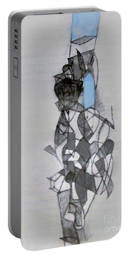 Torah Portable Battery Charger featuring the digital art Self-renewal 11a by David Baruch Wolk