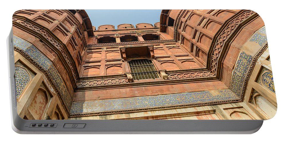 Ancient Portable Battery Charger featuring the photograph Agra Fort In India by Brandon Bourdages