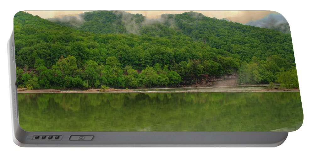 Feature Art Portable Battery Charger featuring the photograph Ahead Of The Falls by Paulette B Wright