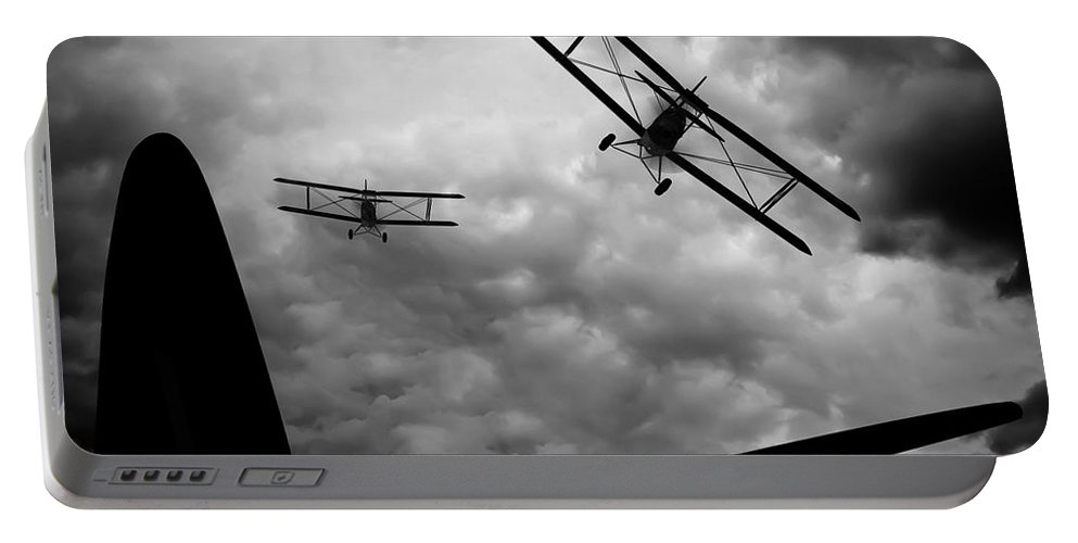 Airplane Portable Battery Charger featuring the photograph Air Pursuit by Bob Orsillo