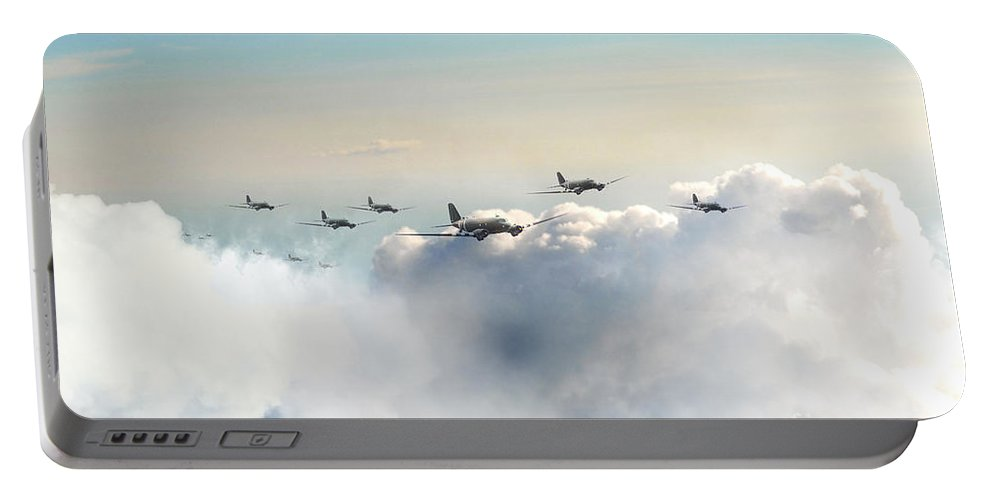 C47 Portable Battery Charger featuring the digital art Airborne Division by J Biggadike