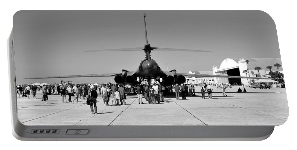 Airshow Portable Battery Charger featuring the photograph Airshow by David Lee Thompson