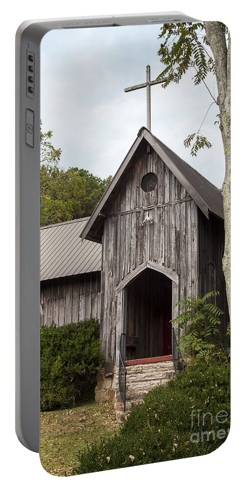 St Joseph's-on-the-mount Episcopal Church Mentone Alabama Wooden Churches Cross Crosses Building Buildings Structure Structures Place Places Of Worship Early American Architecture Door Doors Window Windows Portable Battery Charger featuring the photograph Alabama Country Church by Bob Phillips