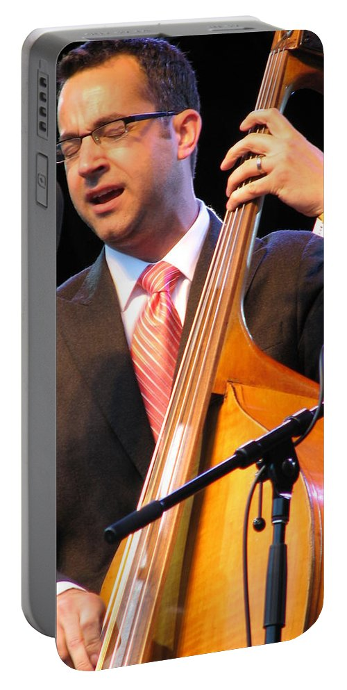 Music Portable Battery Charger featuring the photograph Alan Bartram by Julie Turner