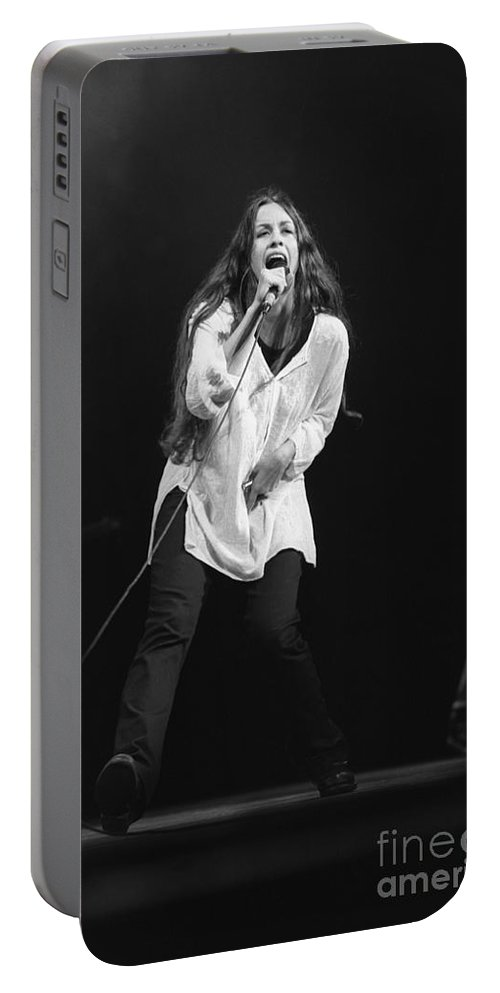 Canadian Portable Battery Charger featuring the photograph Alanis Morissette by Concert Photos