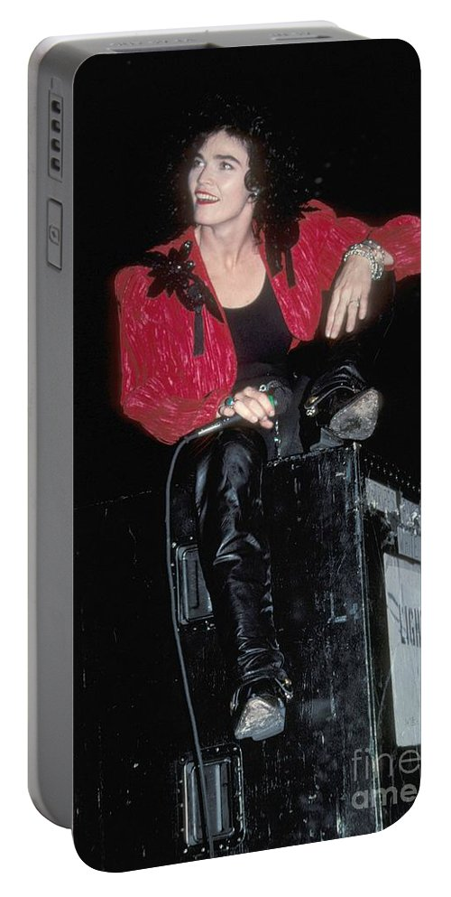 Performance Portable Battery Charger featuring the photograph Alannah Myles by Concert Photos